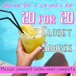 20 for 20 closet shares!!! LIKE AND COMMENT BELOW!